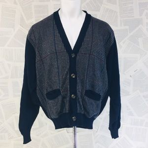 Pendleton Sweaters - Vintage Grandpa Librarian Blue Cardigan Sweater L